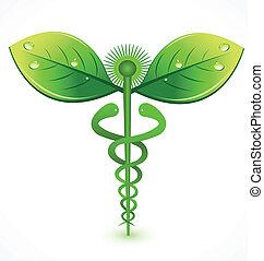 logo, medisch, natuurlijke , symbool