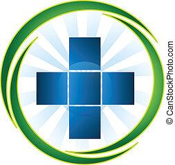 logo, medisch, vector, symbool, pictogram