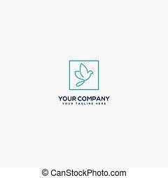 logo, schets, moderne, plein, eenvoudig, logo, duif