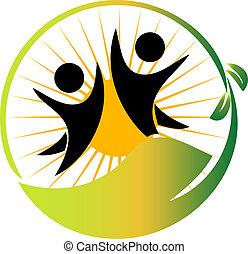logo, team, vector, natuur