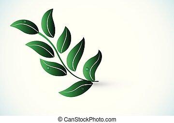 logo, vector, gezondheid, natuur, blad