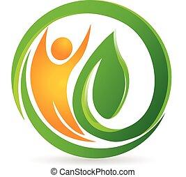 logo, vector, gezondheid, natuur, man