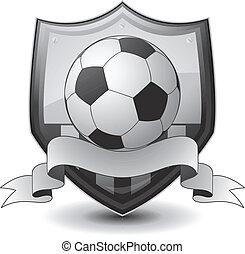 logo, voetbal, embleem
