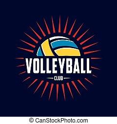 logo, volleybal