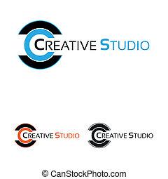 logo, werken, studio, creatief
