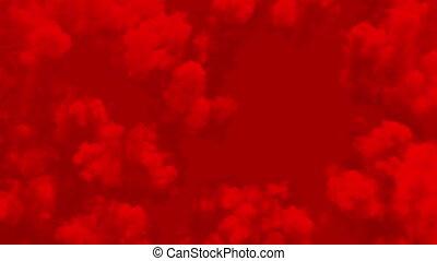 looped, abstract, rook bewolking, ultra, seamless., 3840x2160, hd, rood, hemelen, animation., 3d, 4k