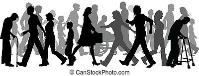 lopende mensen