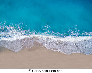 luchtopnames, eiland, lefkada, kathisma, griekenland, strand