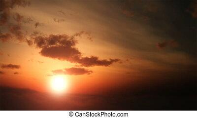 luchtopnames, ondergaande zon