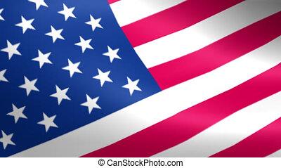 lus, seamless, zwaaiende , amerikaanse vlag