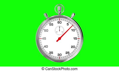 lus, stopwatch, groene, scherm, realtime