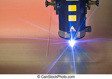 machine, laser, holle weg, technologie