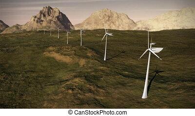 macht, elektriciteit, energie, turbines, boerderij, rooster, wind, schoonmaken, (1149), alternatief, lus
