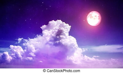 magisch, hemel, nacht