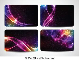 magisch, kleurrijke, zakelijk, licht, kleuren, helder, kaarten