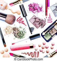 make-up, set., collage