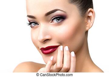 makeup, salon, mooie vrouw, beauty, model