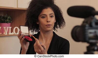 makeup, video, registreren, mode, eplainer, blogger