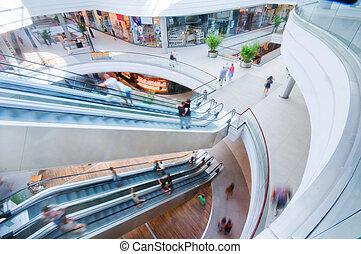 mall, moderne, shoppen