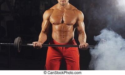 man, gewichtsheffen, gym