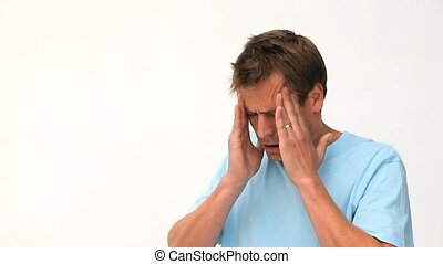 man, hebben, migraine