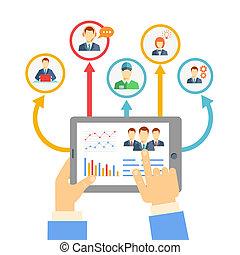management, concept, ver, zakelijk
