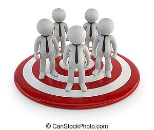 management, lood, mensen, -, kleine, 3d