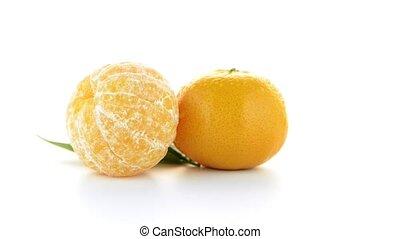 mandarijn, mandarijn, of, rijp