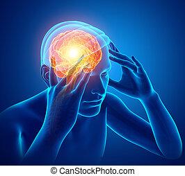 mannelijke , hoofdpijn, gevoel