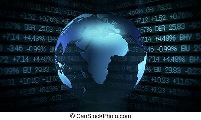 markt, globale financiën, animati, liggen