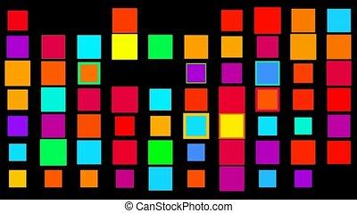 matrijs, vierkante kleur, hoog, achtergrond., technologie