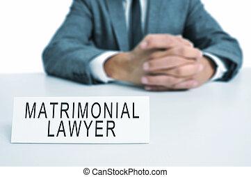 matrimonial, advocaat