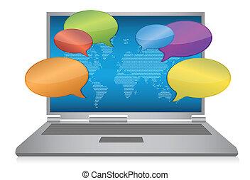 media, concept, internet, sociaal