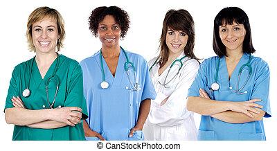 medisch, multi-etnisch, team