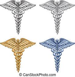 medisch symbool, caduceus