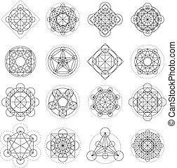 meetkunde, vector, tekens & borden, magisch