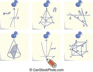 meetkunde, wiskunde, iconen