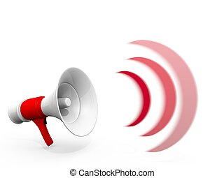 megafoon, luid, really