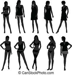 meisje, lingerie, mode, vrouwelijke vrouw