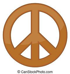 meldingsbord, /, vector, brons, vrede