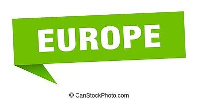 meldingsbord, wegwijzer, europa, groene, sticker., wijzer
