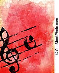 melodie, grunge, texturen
