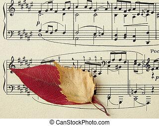 melodie, herfstachtig