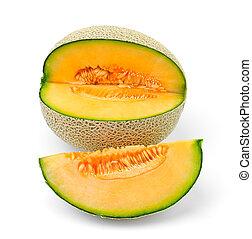 meloen, cantaloupe, schijfen