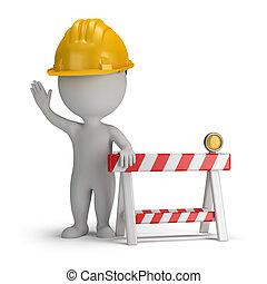 mensen, -, bouwsector, onder, kleine, 3d