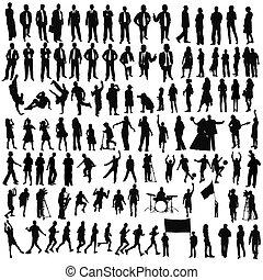 mensen, (, children), zakelijk, levensstijl, sportende, muziek
