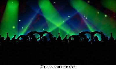 mensen, dancing, concert