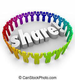 mensen, geven, aandeel, samen, portie, gemeenschap, aansluiting, vrijwilliger