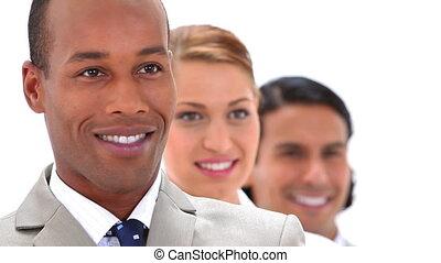 mensen, het glimlachen, zakelijk