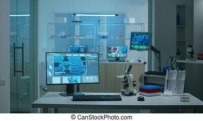 mensen, interieur, laboratorium, wetenschap, nee, informatietechnologie